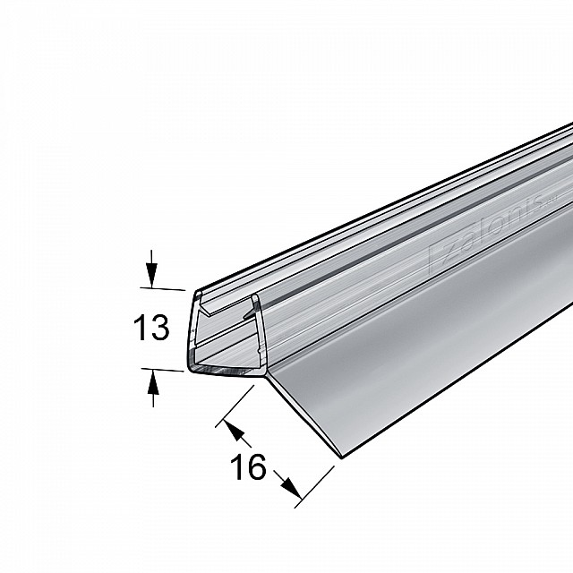45 DEGREES FIN SHOWER SEAL FOR 8-10mm GLASS
